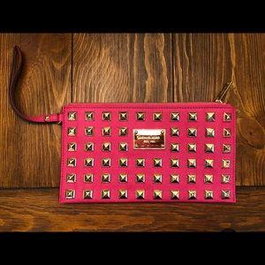 Michael Kors Bags - Michael Kors Pink Studded Wristlet or Clutch